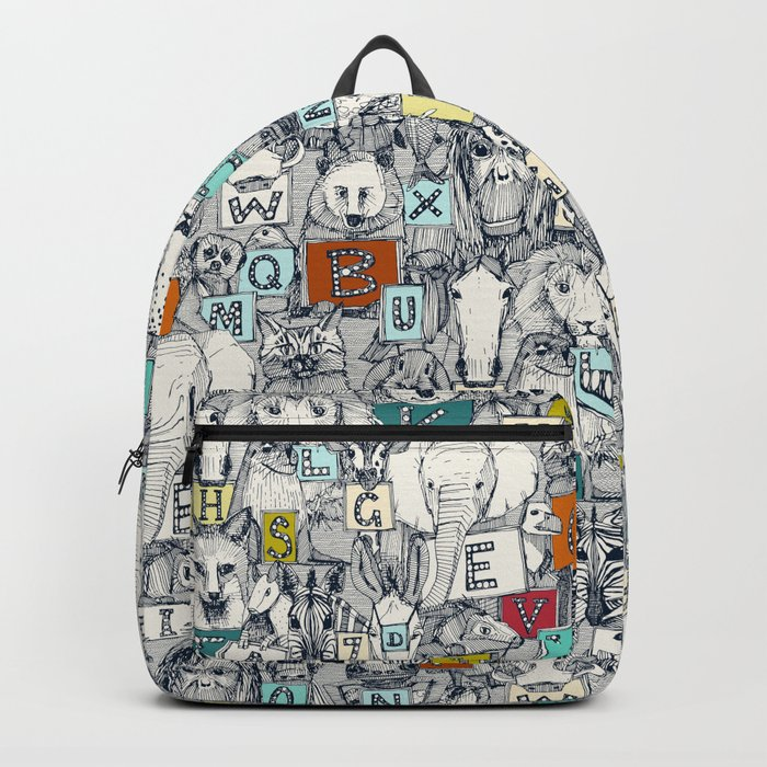 animal ABC indigo multi Backpack