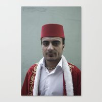 fez Canvas Prints featuring Red Fez by anthonjackson