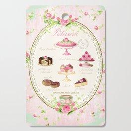 Pink Patisserie Rose Cutting Board