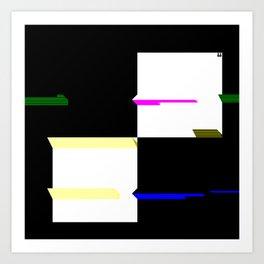 Squares 2x2 1 Art Print