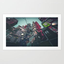 Yard in Inner Town Art Print