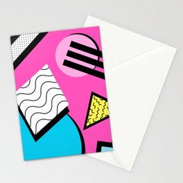 80s Memphis Design Pattern Stationery Cards