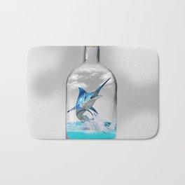 Marlin in a Bottle Bath Mat