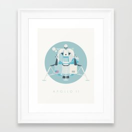 Apollo 11 Lunar Lander Module - Text Sky Framed Art Print