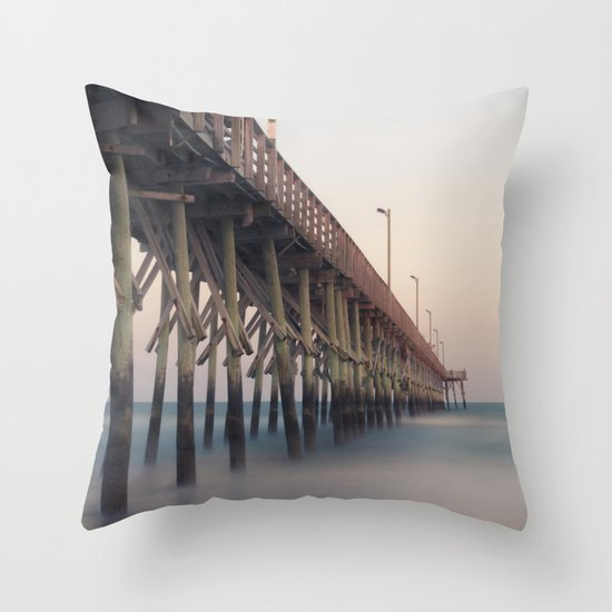 Pier at Dusk Throw Pillow