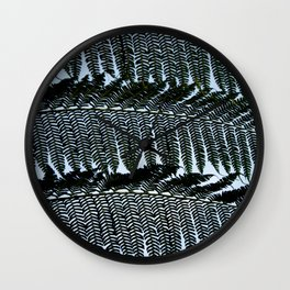 Real Fern Pattern Wall Clock