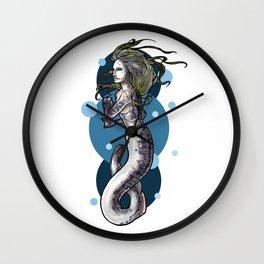 Sea Lamprey Mermaid Wall Clock