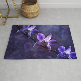 Orchids in the Moonlight Rug