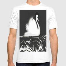 Swan Painting White MEDIUM Mens Fitted Tee