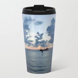 Sailing Clouds Metal Travel Mug