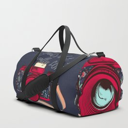 Retro camera. Fashion design Duffle Bag