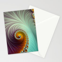 Winter Sunset - Fractal Art  Stationery Cards