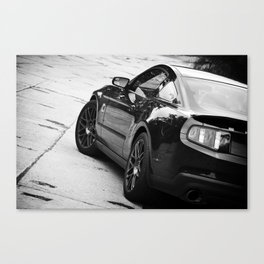 2012 Shelby GT-500 side shot black and white Canvas Print