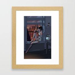 Midnight Radio - Crystal Clear Framed Art Print