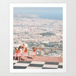 Barcelona ballet Art Print