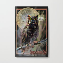 The Great Horned Owl & The Terrible Smell Metal Print