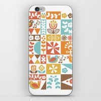 mid century iPhone & iPod Skins featuring Mid-Century Geometrics & Florals by Christine Witte