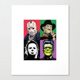 Horror Pop Art Canvas Print