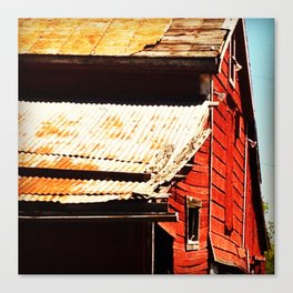 Barn Side Canvas Print