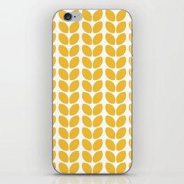 leaves - yellow iPhone Skin