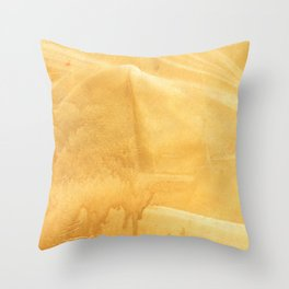 Sunny yellow painting Throw Pillow