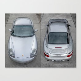 Porsche Carrera Side-by-Side Canvas Print