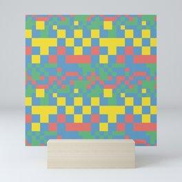 Pixel squares Mini Art Print