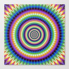 Psychedlic Rings Canvas Print