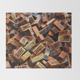 Chinese Bricks Throw Blanket