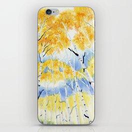 Under the Birch Forest iPhone Skin