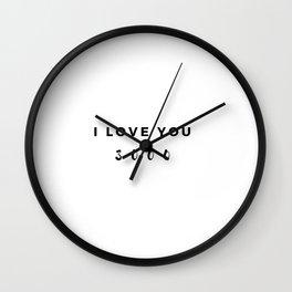 I love you 3000 Wall Clock
