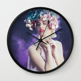 Purple smoke Wall Clock