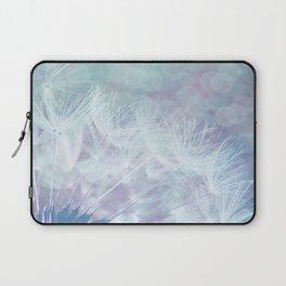 Whimsical Blue Dandelion Laptop Sleeve