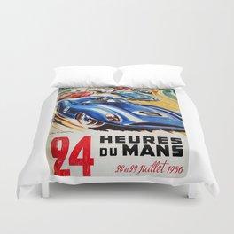 Le Mans 1956, vintage poster, Le Mans t-shirt, 24hs Le Mans Duvet Cover