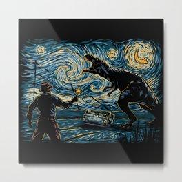 Jurassic Night Metal Print