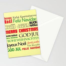 merry christmas in different languages I Stationery Cards