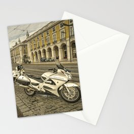 Lisbon Police Bikes  Stationery Cards