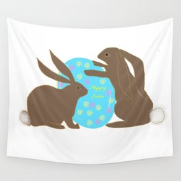 Happy Easter Bunnies Wall Tapestry