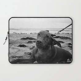 PAWPRINTS IN THE SAND Laptop Sleeve