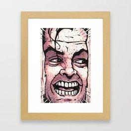 Here's Johnny! Framed Art Print