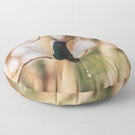 Bird - Photography Paper Effect 007 Floor Pillow