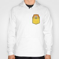 pocket Hoodies featuring Pocket Tiger by Steven Toang