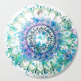 Mandala Splash Cutting Board