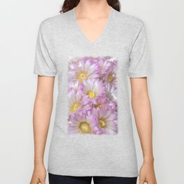 Soft Cactus Blossoms, Desert Floral Art by Murray Bolesta Unisex V-Neck