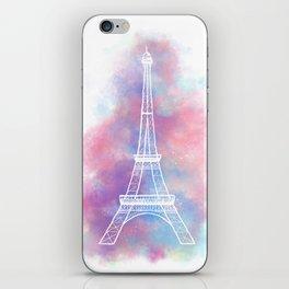 Eiffel Tower Water Color Sketch iPhone Skin