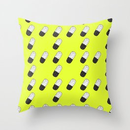 Take a neon pill Throw Pillow