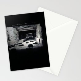 mining rock shoot Stationery Cards