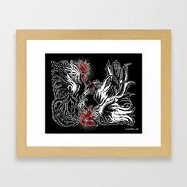 Dos Gallos Framed Art Print