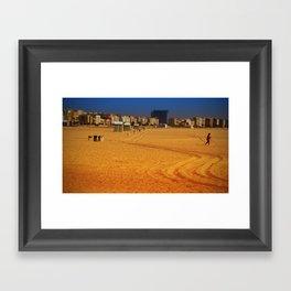 LONG WAY TO THE BEACH Framed Art Print