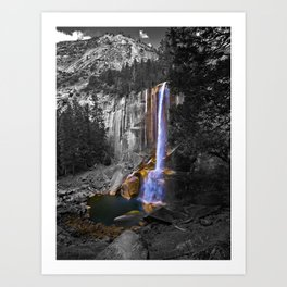 Vernal Falls, Yosemite National Park, Fall 2013, Selective Color Art Print